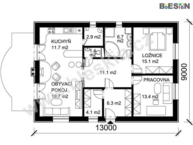 Projekt Bungalovu Rojekt Maleho Rodinneho Domu Projekty Rodinnych
