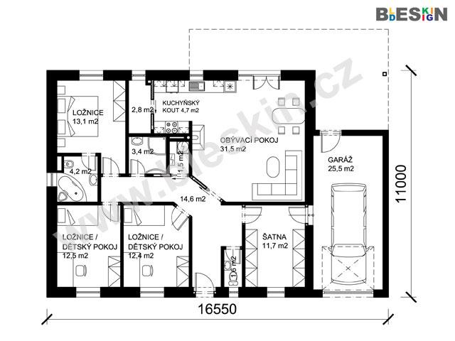 Projekt Bungalov U Projekty Rodinnych Domu Bleskin Cz