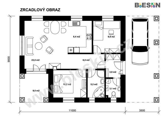 Projekt Bungalovu Tudor Projekty Rodinnych Domu Bleskin Cz